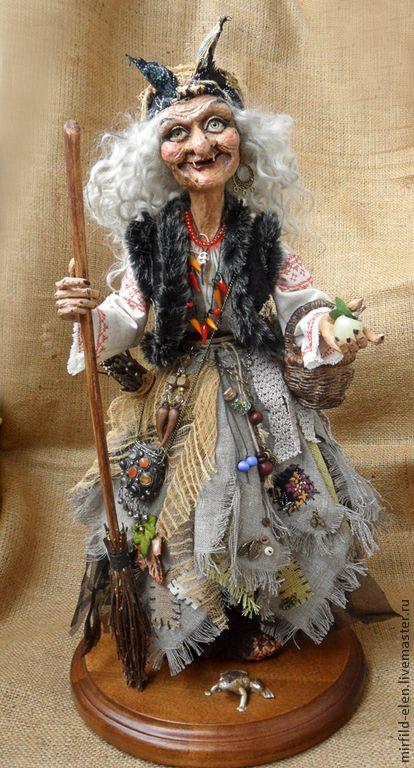 Коллекционные куклы ручной работы. Ярмарка Мастеров - ручная работа. Купить Баба Яга. Handmade. Кукла ручной работы, текстиль