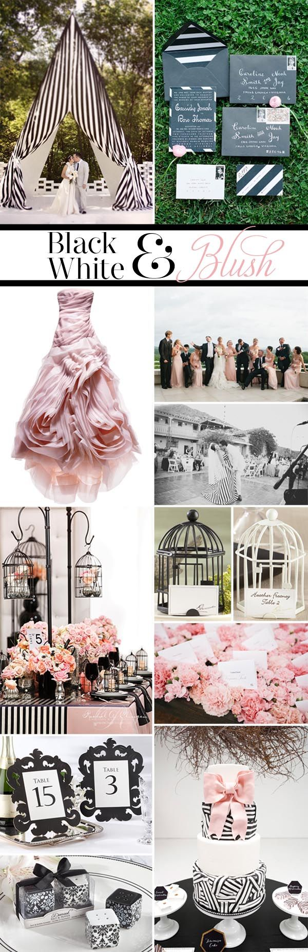 On the Blog: Inspiration Black, White & Blush