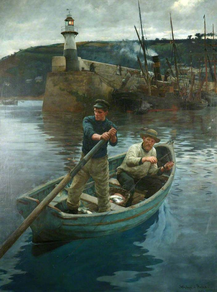 BBC - Your Paintings - The Lighthouse (Newlyn, Cornwall) Stanhope Forbes