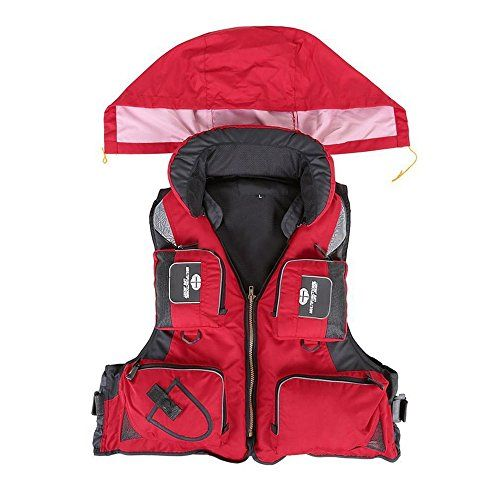 Adult Adjustable Buoyancy Aid Swimming Boating Sailing Fishing Kayak Life Jacket Vest Preservers Red XL -- Want to know more, click on the image. Note: It's an affiliate link to Amazon