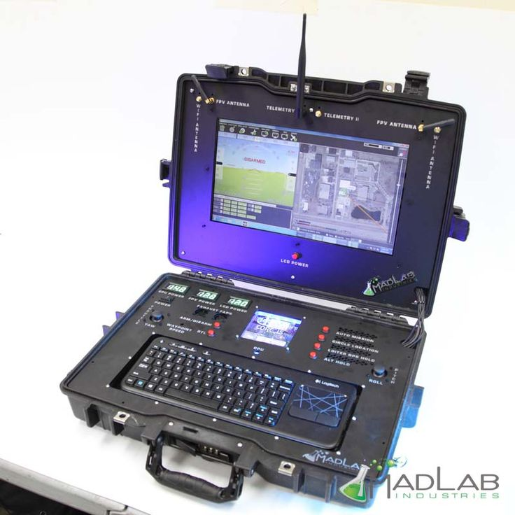 This is the first public Ground Station from Mad Lab Industries.  Several versions and trials have come together to make this monster Ground Station for Mavlink power multi-rotors or ground vehicles.  Built around the Intel NUC I5 system and equipped with the most needed accessories this is the Best all rounder ground station we made yet.  Full Windows or Ubuntu OS's installed and ready to go.  Fully customizable I/O system powered by the Teensy 3.1 ARM Microcontroller allows for end...