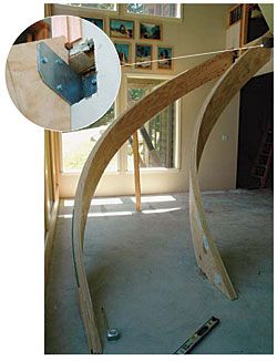 Laminating curved stair stringers - Fine Homebuilding Article