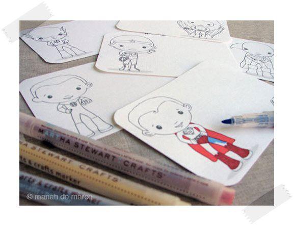 Tarjetas de superhéroes para colorear gratis