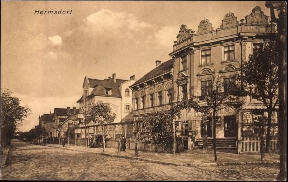Ansichtskarte / Postkarte Berlin Hermsdorf, Strassenansicht, Restauration | akpool.de