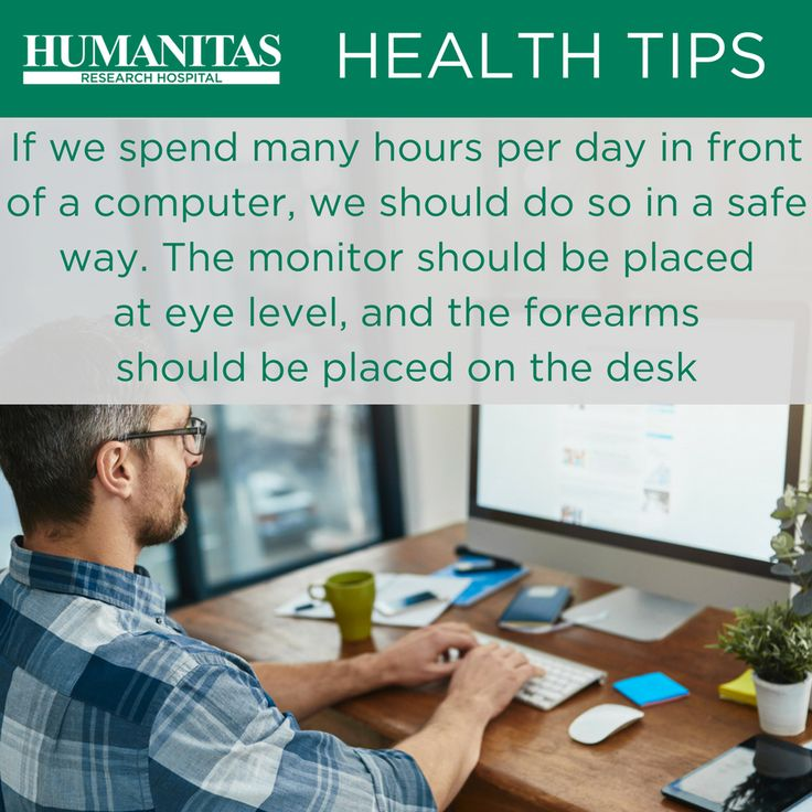 Neck pains may affect those who spend a lot of time in front of a computer at work, keeping still for hours. Take a break every now and then, standing up every hour or so to stretch your legs.