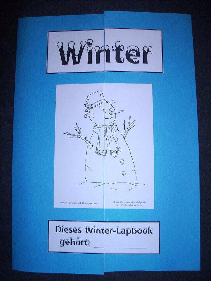Materialwerkstatt: Lapbook Winter