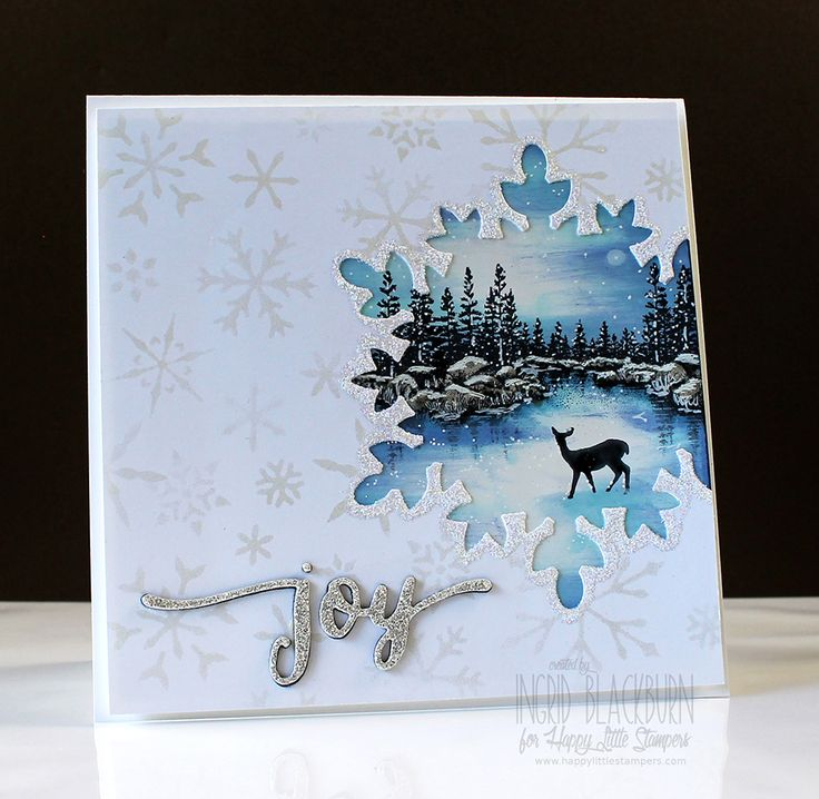 Video and written tutorial for this scenic cutout card on blog. Great close up photos too. www.thecreativegrove.com #stampscapes #sceniccards #christmascards