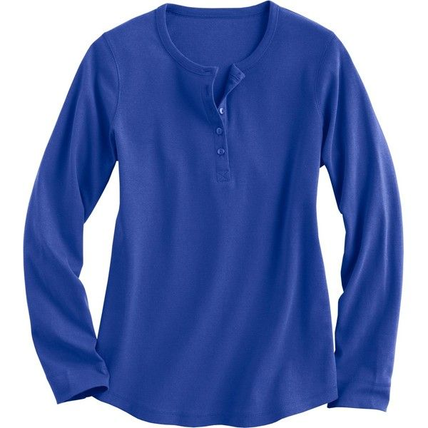 Women 39 S Longtail T Long Sleeve Henley Shirt 30 Liked On