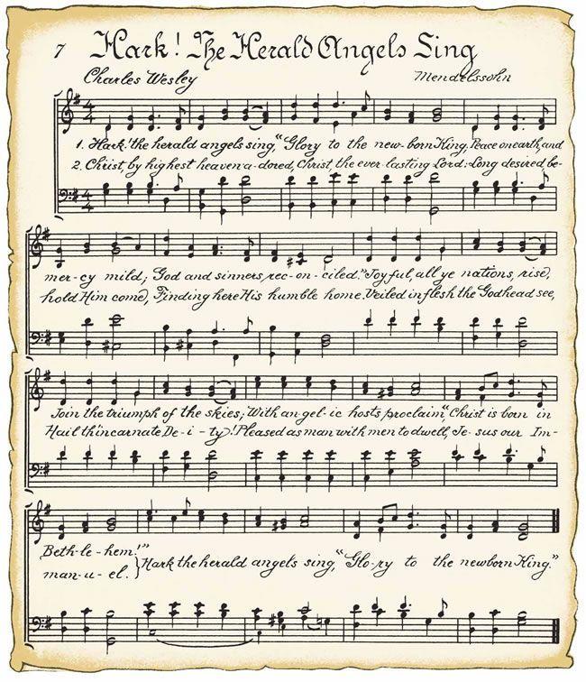Free printable Christmas Music song sheets via VintageFeedsacks