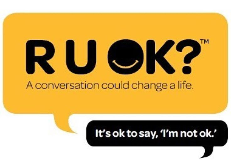 R U Ok? Everyday we need to be asking those around us if their ok. A simple question could save a life. Ask the question this R U OK Day! #ruok #ruokday #itsoktosayno