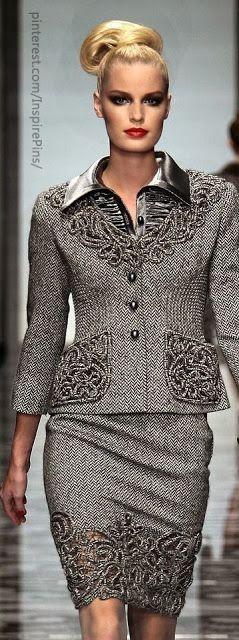 Fashion Is Life: Ladies hand work gray color mini skirt and dress fashion inspiration