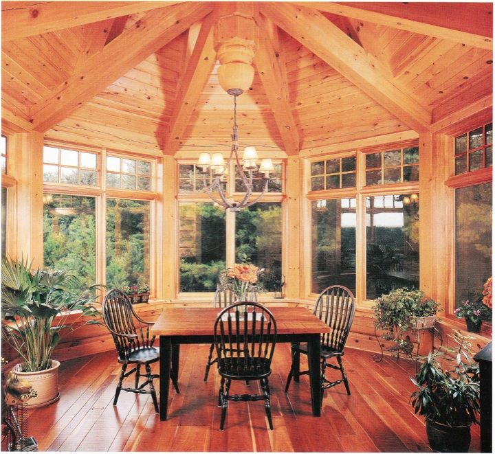 45 best octagon cabins images on pinterest country for Log cabin sunrooms