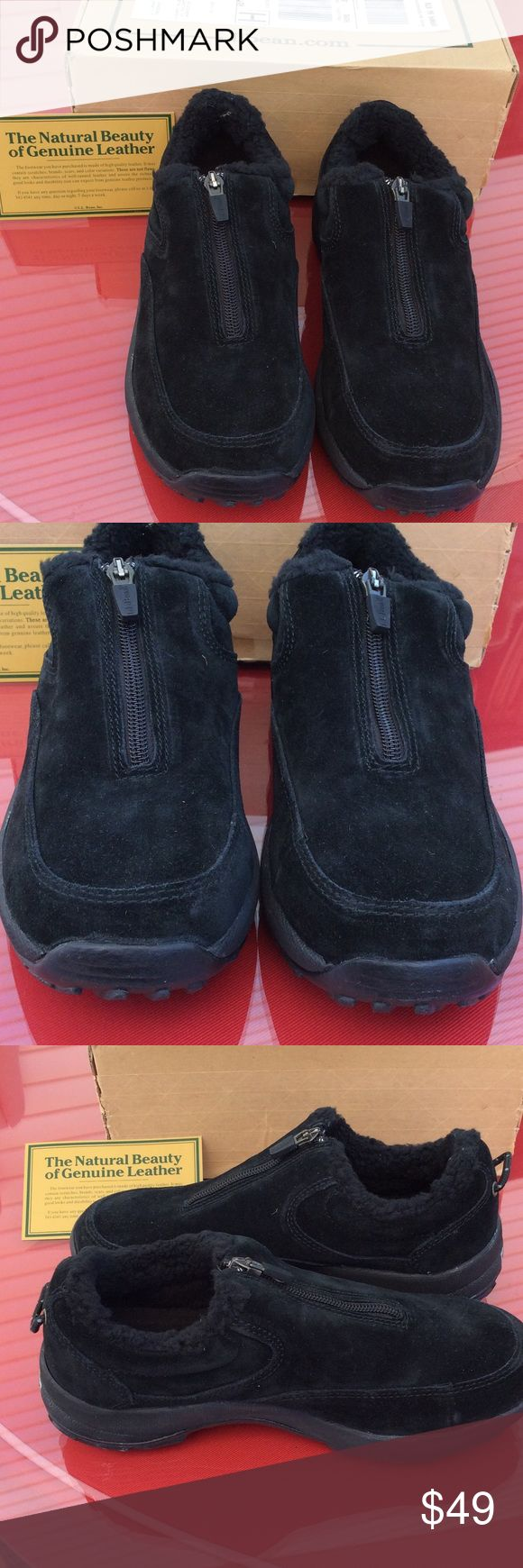 LL Bean suede black shoes LL Bean black suede shoes only tried not once size 7.  7/8/17 LL Bean Shoes Ankle Boots & Booties