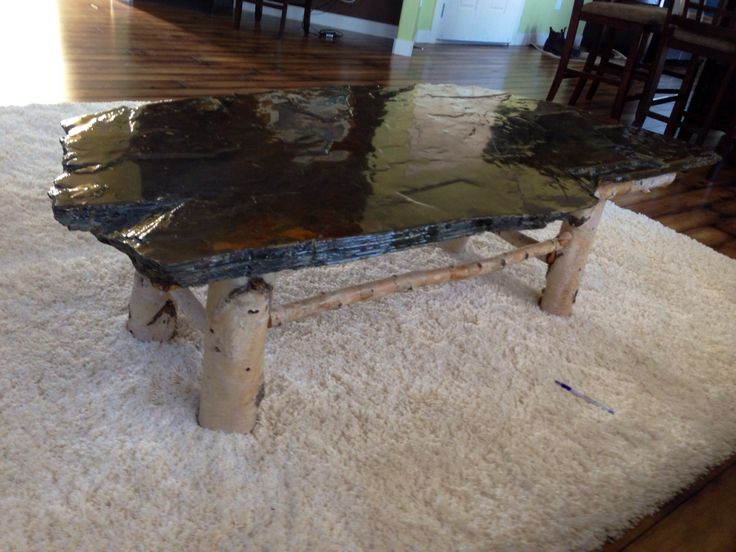 Stromatolites coffee table (Fossilized algae)