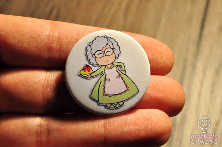 Un preferito personale dal mio negozio Etsy https://www.etsy.com/it/listing/480792916/nonna-spilla-illustrata