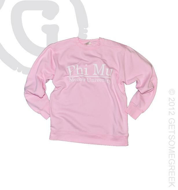 Phi Mu Mercer University Classic Pink Sweatshirt!! GetSomeGreek & ΦΜ
