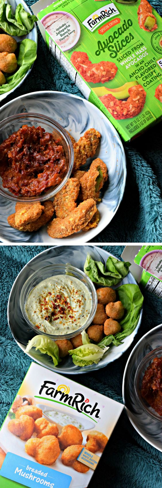 #ad Breaded Mushroom and Avocado Slices are Farm Rich snacks, made with wholesome ingredients, quick-frozen and carefully packaged. Serve them with delicious dips like the Avocado Mint Yogurt dipping sauce and Sweet Mango chutney.@farmrich #farmrich