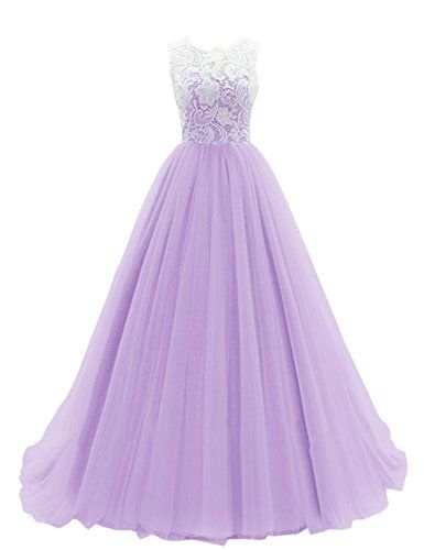 Dresstells Women's Long Tulle Prom Dress Dance Gown with Lace: $119.99 - $148.00 (On sale from $356.00)