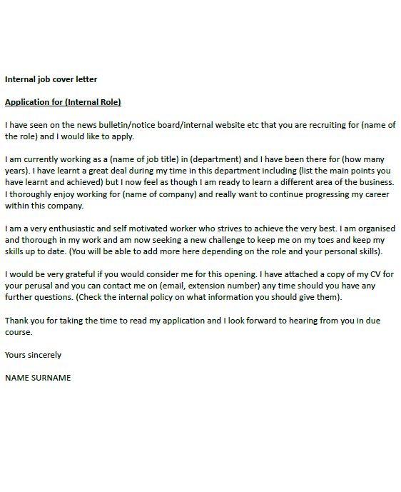 Internal Job Cover Letter Example Uk Resume Cover Letter Job Cover Letter