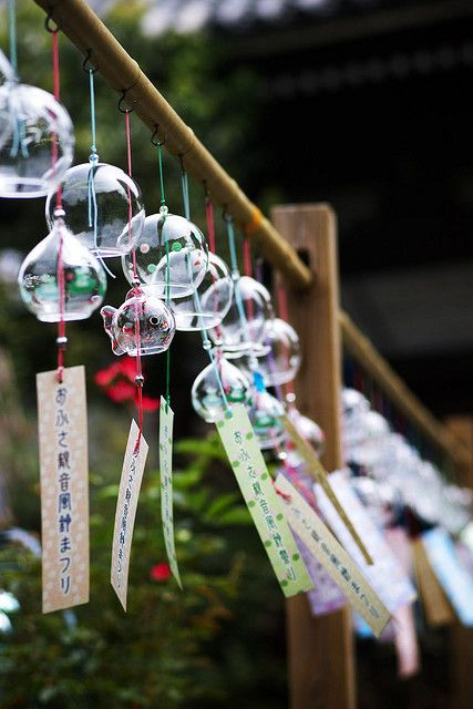 Japanese wind chimes Could we somehow create noise with the wind. Windchimes or harmonica/kazoo structures