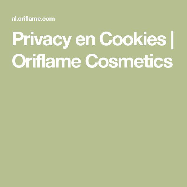 Privacy en Cookies | Oriflame Cosmetics