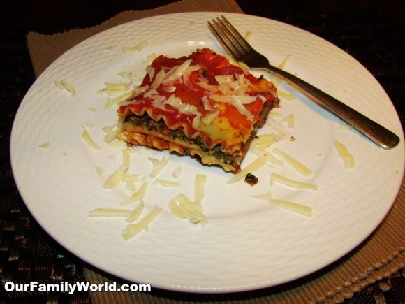 Enjoy healthy eating with this delicious Spinach Lasagna recipe from OurFamilyWorld.com