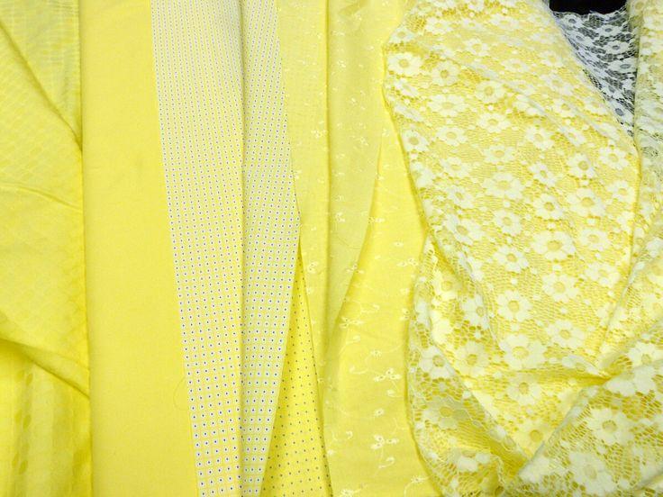 Компаньоны летних тканей. Поплины, костюмные, сорочечные, костюмные жаккарды, кружево, гипюр. 100% хлопок, Италия. Цены 520-580 р/п.м. Представлены в зале №1.