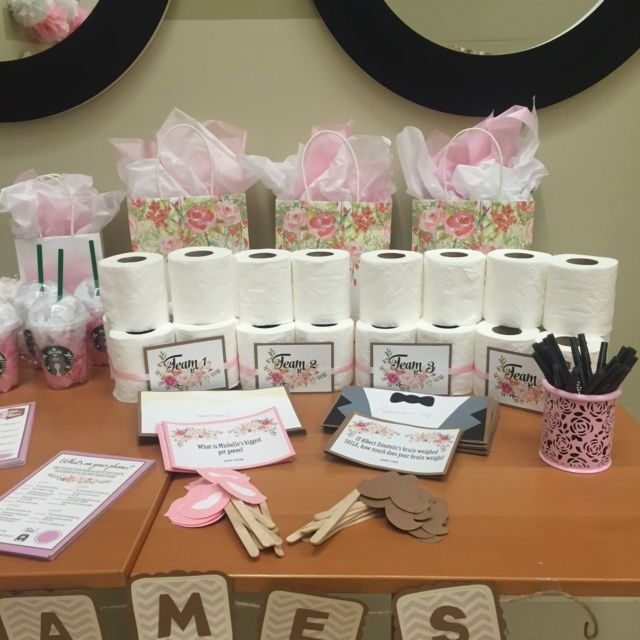 Bridal Shower Games Table Toilet Paper Dress Game Bridal