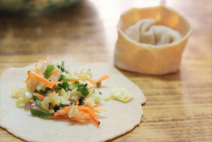 Momos tibétains, farce végétarienne #vegetarian #cuisineexotique #tibet