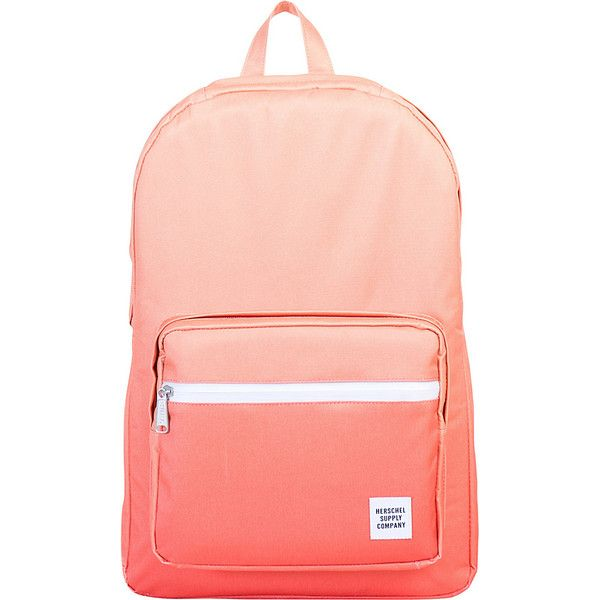 Herschel Supply Co. Pop Quiz Laptop Backpack ($75) ❤ liked on Polyvore featuring bags, backpacks, laptop backpacks, orange, mesh bag, waterproof laptop backpack, orange backpack and padded laptop backpack