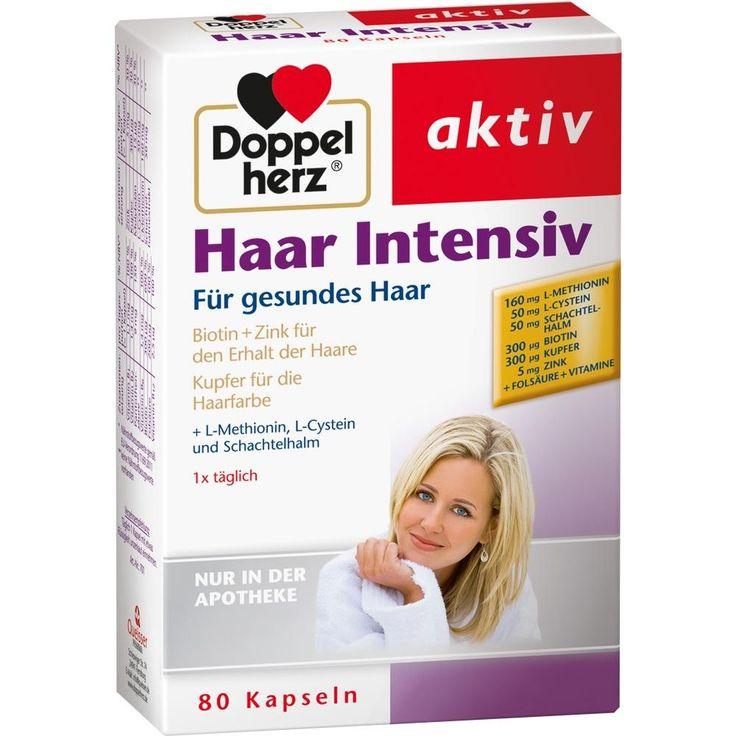 DOPPELHERZ Haar Intensiv Kapseln:   Packungsinhalt: 80 St Kapseln PZN: 09483483 Hersteller: Queisser Pharma GmbH & Co. KG Preis: 9,85 EUR…
