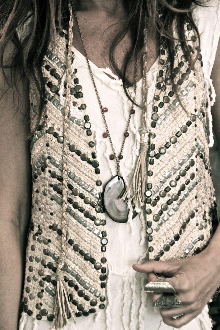 ➳➳➳☮American Hippie Bohemian Boho Bohéme Feathers Gypsy Spirit Bizu Baroque Tati Tati Style - ❤