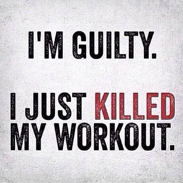 I'm guilty....I just killed my workout #gymmemes Check out Fitness Deals Online for the best fitness deals! http://www.fitnessdealsonline.com/