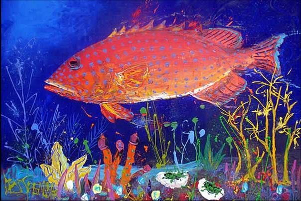 Art with Mrs Baker: Great Barrier Reef Paintings