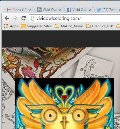 Working on the Vivid Owl Coloring web page #vividowlcoloring #adultcoloring #coloringforgrownups #adultcoloringbooks