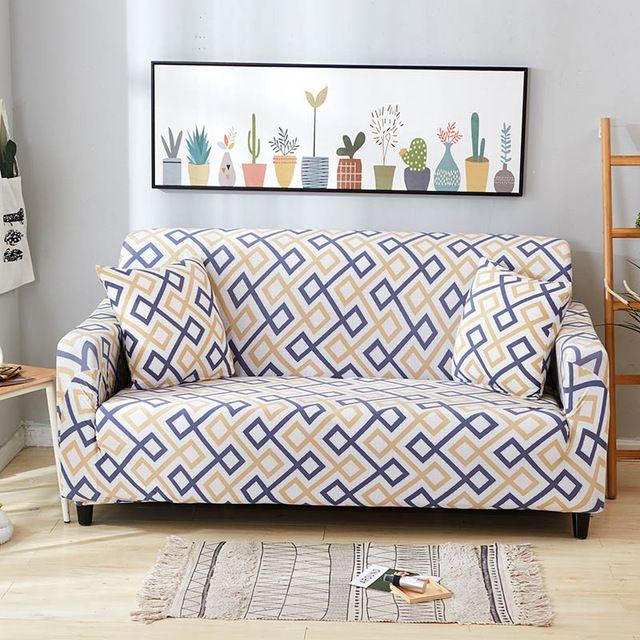 Flexible Geometric Patterned Sofa Cover Sofa Covers Sofa Sofa