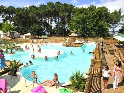 Le Lac de Sanguinet - Camping aan een van de zuiverste meren van Europa. Met verwarmd zwembad.