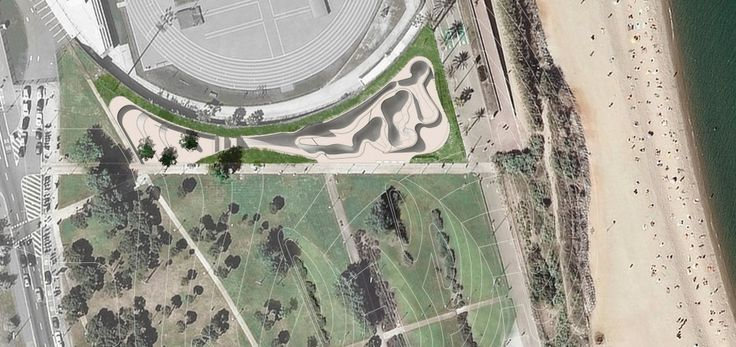 SCOB ARQUITECTURA I PAISATGE. Parque Deportivo Urbano Mar Bella