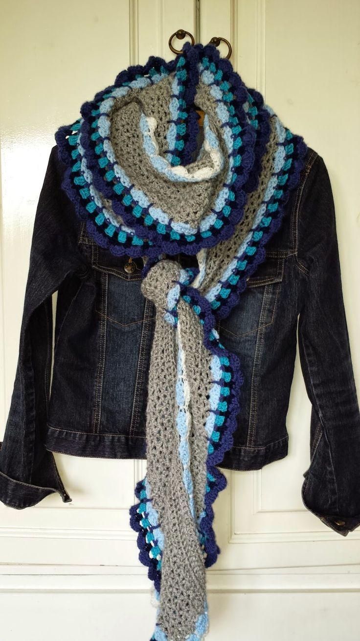 patroon gehaakte sjaal