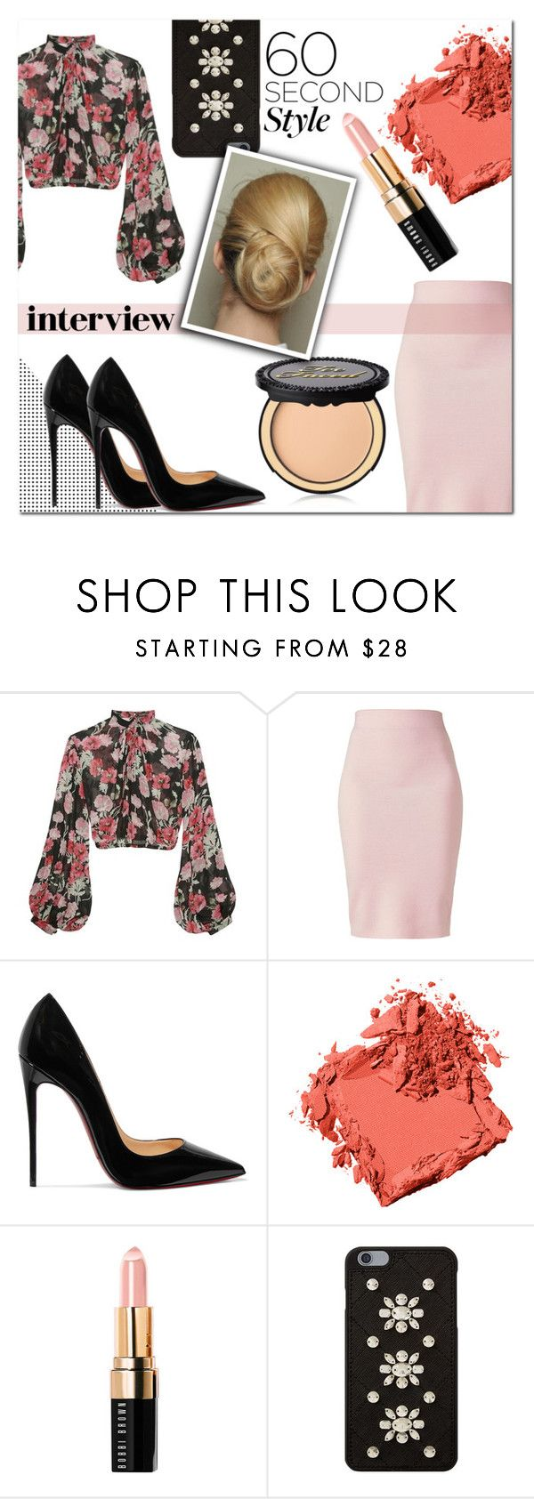 """""""60 second interview outfit"""" by gingembre ❤ liked on Polyvore featuring Jill Stuart, Winser London, Christian Louboutin, Bobbi Brown Cosmetics, MICHAEL Michael Kors and Too Faced Cosmetics"""