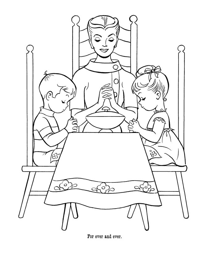 sunday school coloring pages prayer - photo#33