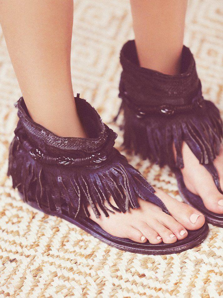 Free People Wonder Land Fringe  I have them in cream... FAV. sandals. EVER.