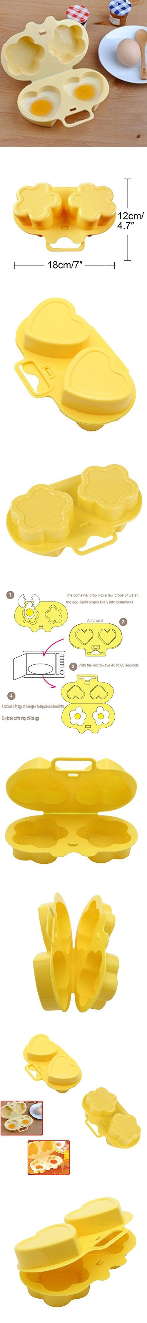 Mochiglory Microwave Oven Cake Budding Sushi Egg Boiler Steamer Mould Flower Heart Shape