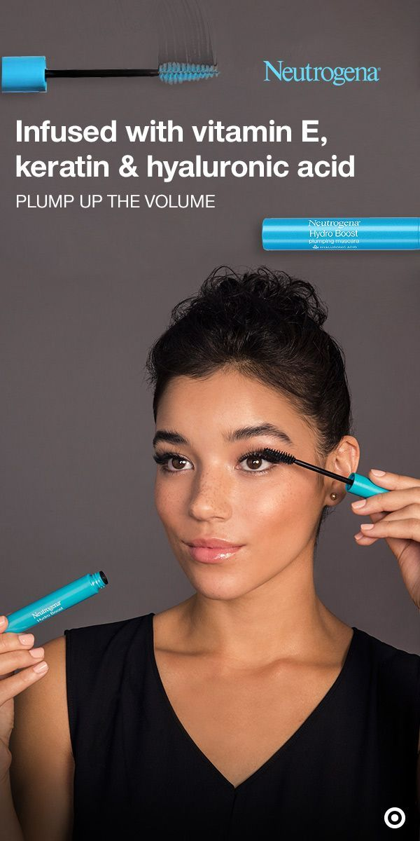 8435fd59bfe Hyaluronic Acid · Instantly plump up the volume of your lashes with the Neutrogena  Hydro Boost Mascara. This
