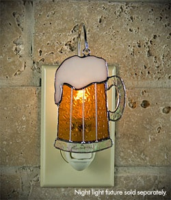 Switchables - Beer Mug Cover - Delightful stained glass piece designed to be used on a SWITCHABLES night light fixture (sold separately). Can also be used as a sun catcher, ornament or plant decoration.