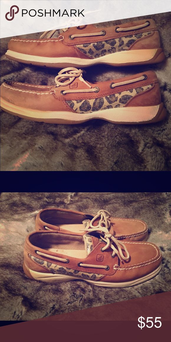 Women's Leopard Sperry's Size 8m Women's Leopard Sperrys  , worn once! Excellent condition . Sperry Top-Sider Shoes Flats & Loafers