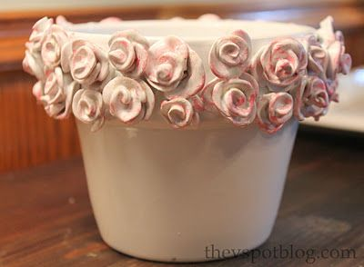 Rose terra cotta flower pot