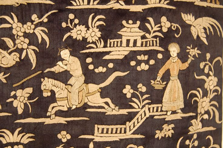 Embroidery of very distinct characteristics developed in the urban center of Surat, on the north west coast of India. A colony of Chinese immigrants started producing garments for another immigrant colony, that of the Parsis who originated in Iran, where they were persecuted and therefore migrated to India.The design as well as the stitch work are typically Chinese, yet the garments are Indian in nature, like saris, skullcaps and most distinctly blouses. Jubla is a simply shaped and…