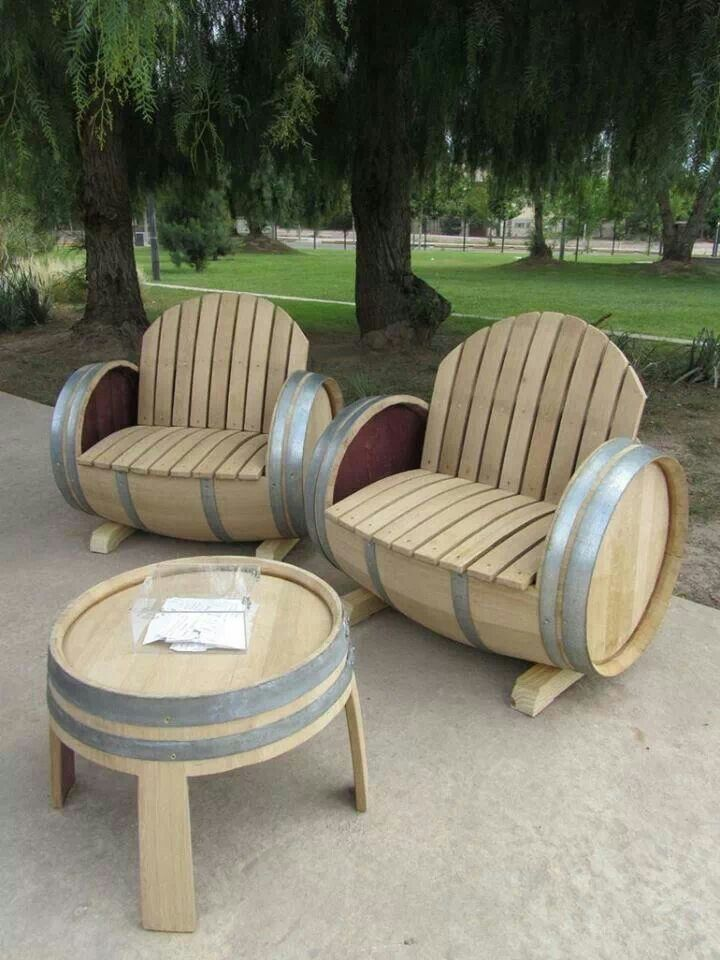 wine barrel furniture diy ideas pinterest table and