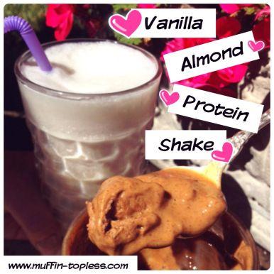 Healthy Vanilla Almond Swirl Protein Shake